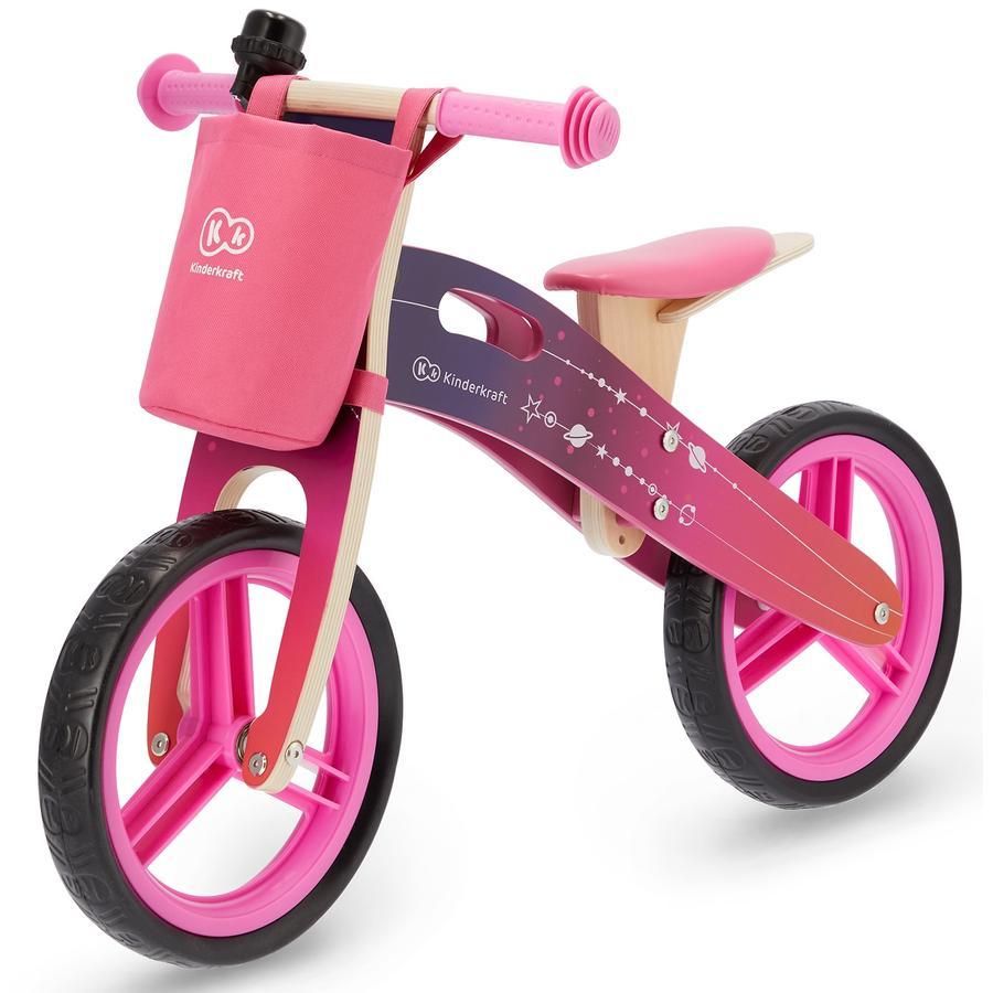 Kinderkraft - juoksutasapaino pyöräilijä lisävarusteilla, vaaleanpunainen