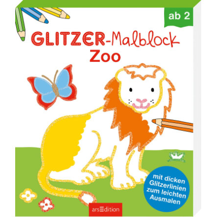 arsEdition Glitzer-Malblock Zoo