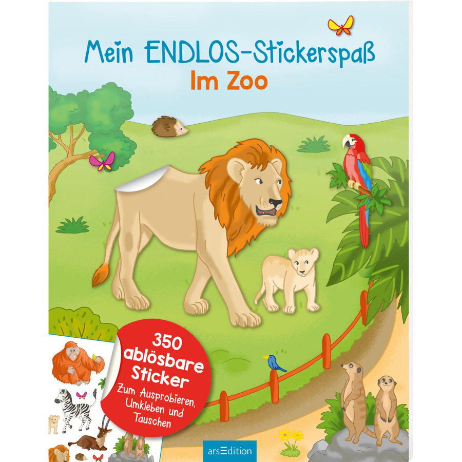 arsEdition Mein Endlos-Stickerspaß Im Zoo