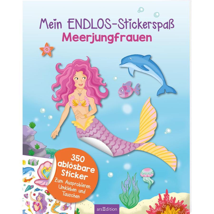 arsEdition Mein Endlos-Stickerspaß Meerjungfrauen