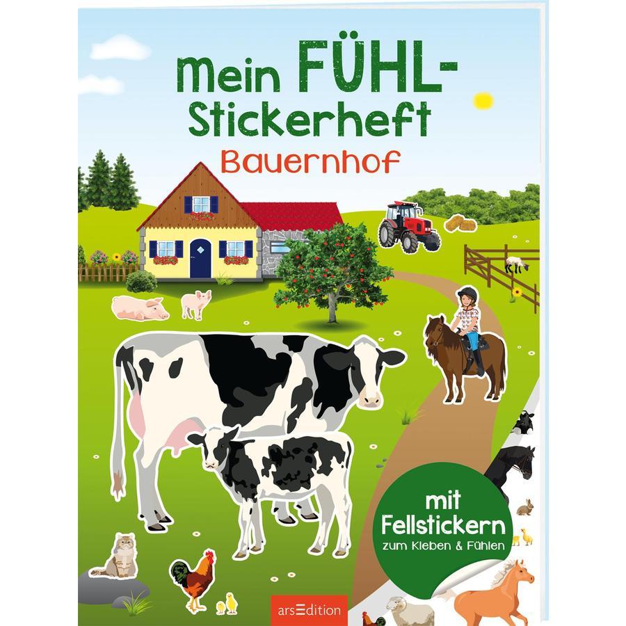 arsEdition Mein Fühl-Stickerheft - Bauernhof