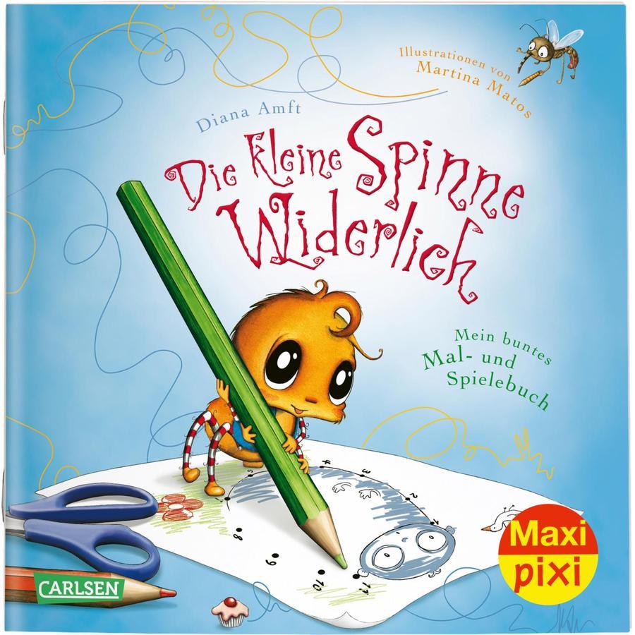 CARLSEN Maxi Pixi 314: Die kleine Spinne Widerlich: Mein buntes Mal- und Spielbuch