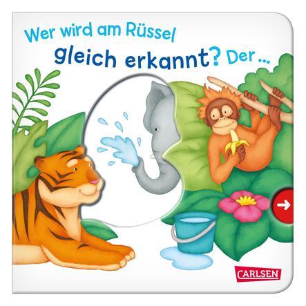 CARLSEN Pappbilderbuch - Wer wird am Rüssel gleich erkannt? Der…Elefant!
