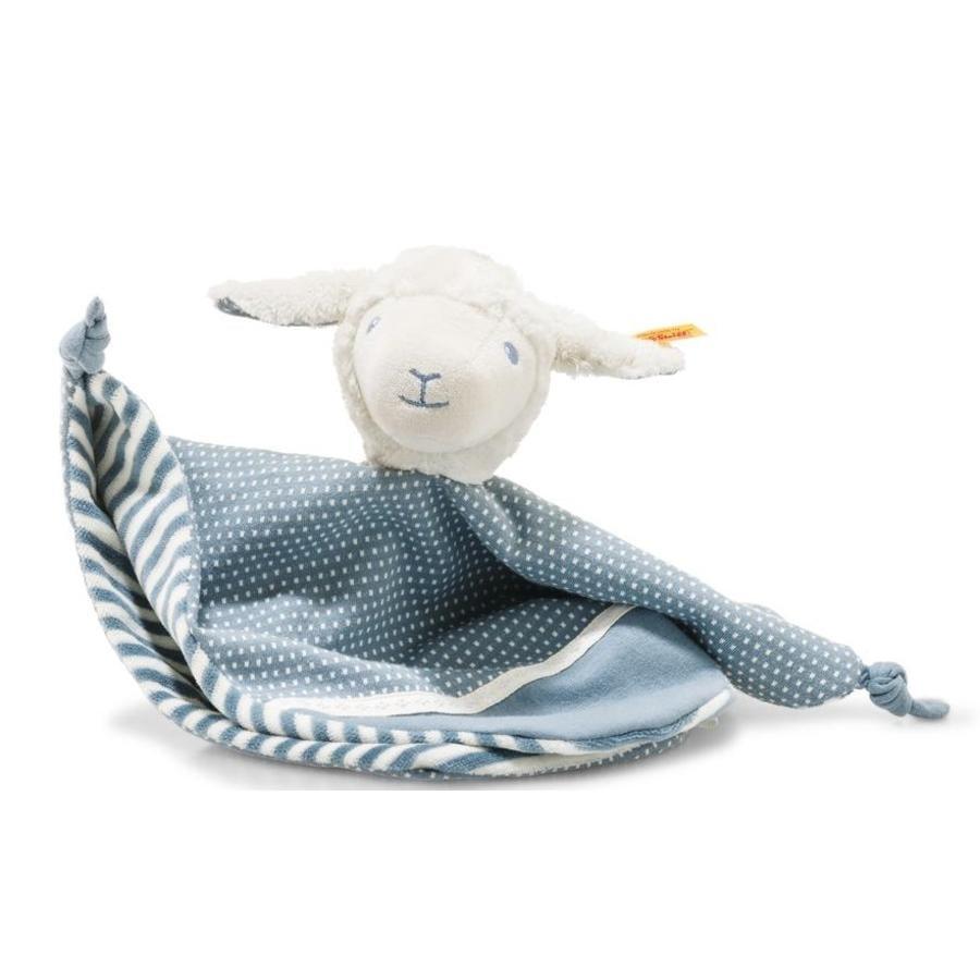 Steiff Tela de cordero de gasa de vuelta, 28 cm, azul