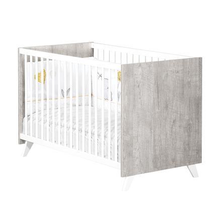 Baby Price Lit bébé Scandi Gris 60x120 cm 3 positions