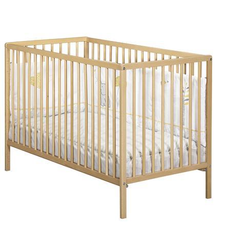 Baby Price Lit enfant à barreaux First 60x120 cm 3 positions naturel