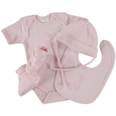 Pink or Blue Girls geschenkset Little Frineds 4-delig roze