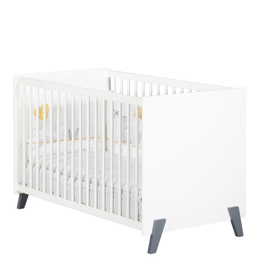 Baby Price Lit bébé Joy Gris 60x120 cm 3 positions pieds gris