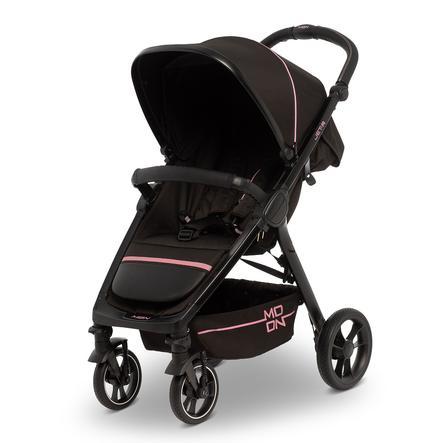 MOON Silla de paseo deportivo JET R negro rosa Nylon