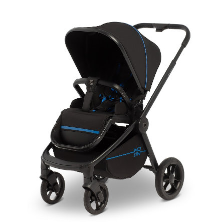 MOON Poussette Resea Sport Black Blue Nylon