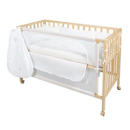 roba Lit bébé safe asleep® magie des étoiles naturel 66x126x79,5 cm
