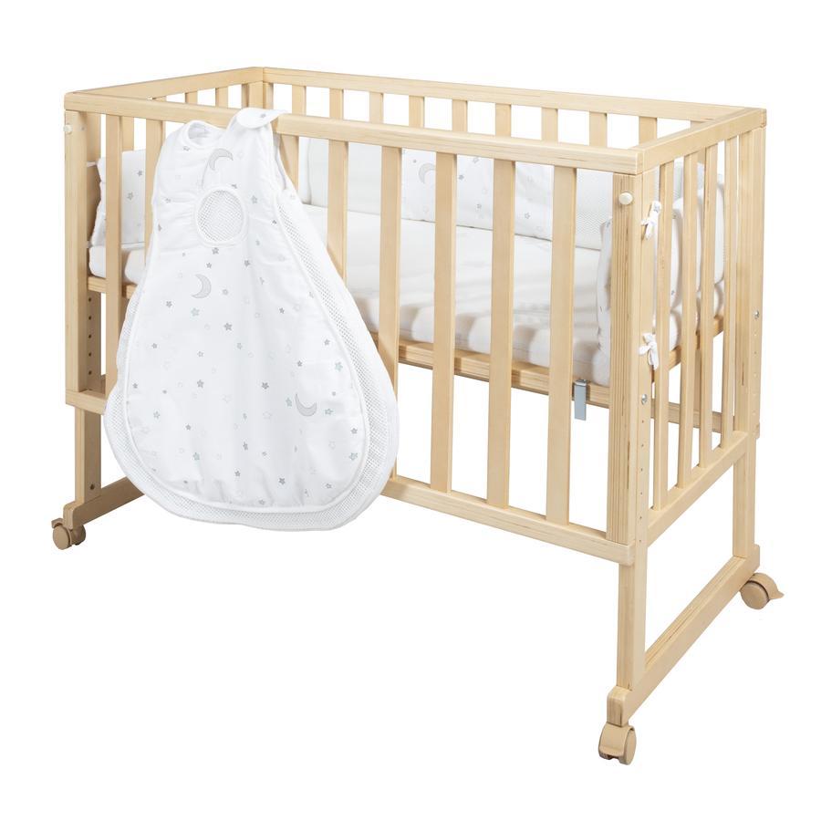 roba postýlka safe asleep® 3 v 1 Hvězdičky natur