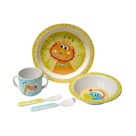 BIECO Melamine Tableware Set Zoo, 5 parts