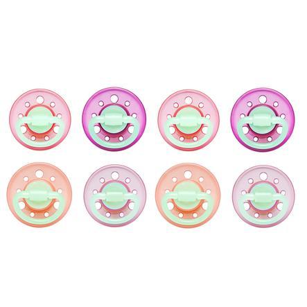 nip fopspeen Cherry Rond Girl Gr. 1 vanaf de geboorte pink/orange/rosa 8 stuks