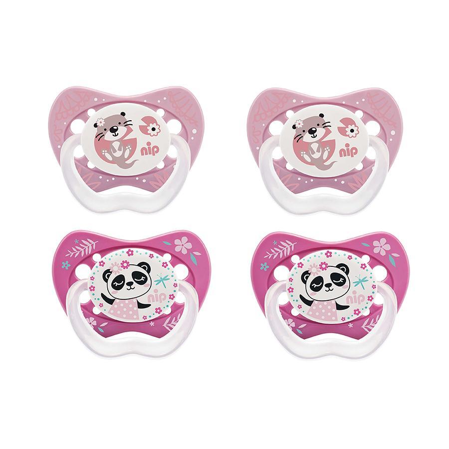 nip Fopspeen Life Gr. 3 vanaf 16 maanden Silliconen Panda en Otter 4 stuks