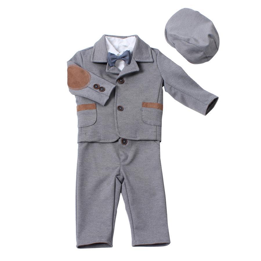 HOBEA-Germany oblek do křtu Maximilian pětidílná šedý