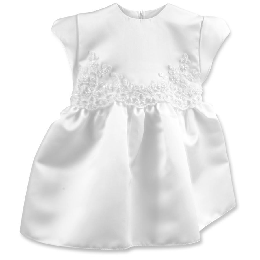 HOBEA-Germany šatičky do křtu Diana s perlovou nášivkou bílé