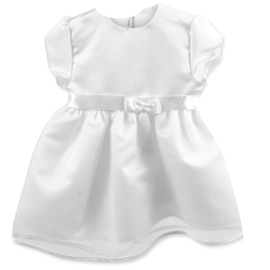 HOBEA-Germany Vestito da battesimo Jana con fiocco in raso bianco