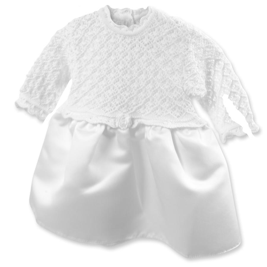 HOBEA-Germany šatičky do křtu Sarah se saténovou mašlí bílé
