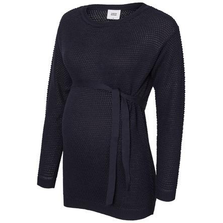mama licious triko s dlouhým rukávem MLCRYSTALINE Navy Blazer