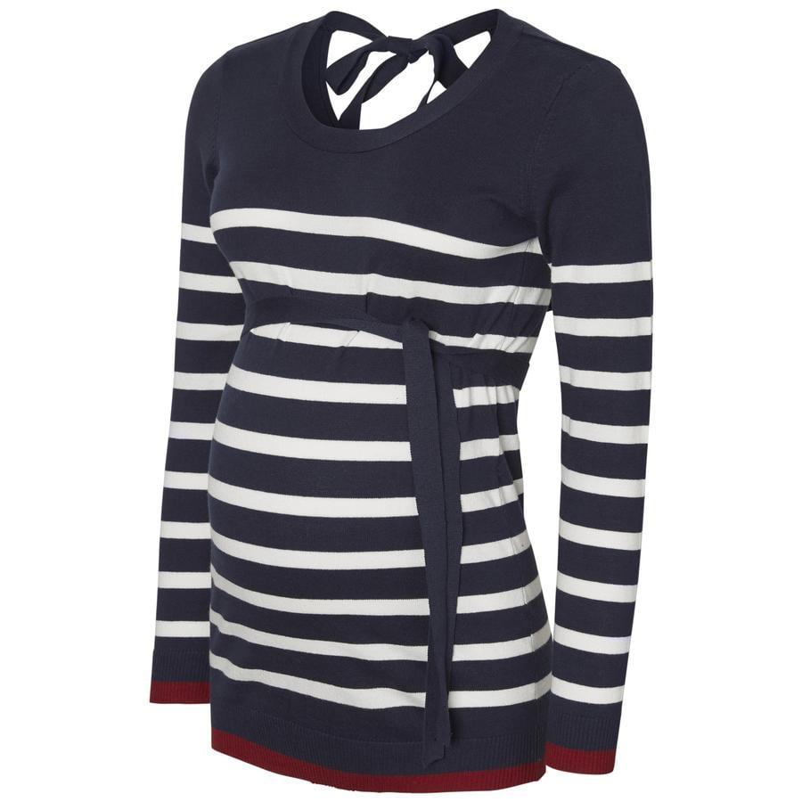 mama licious Bluzka dla kobiet w ciąży MLMERCY Navy Blazer