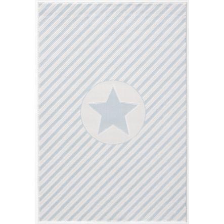 LIVONE Dywan dziecięcy Happy Rugs Stars 160 x 230 cm, kolor niebieski/biały