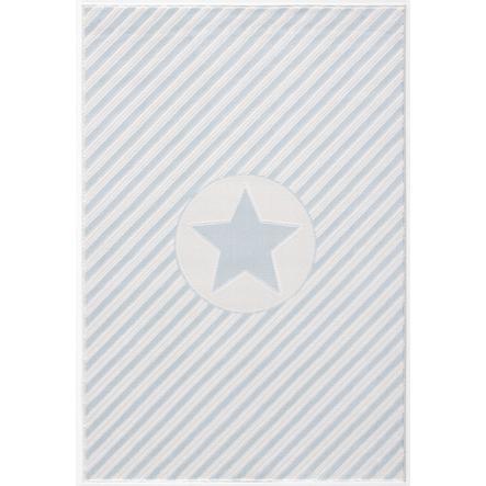 LIVONE play a dětský koberec Happy Rugs Decostar modrá / bílá, 160 x 230 cm