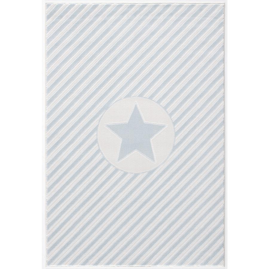 LIVONE lek og barneteppe Happy Rugs Decostar blå / hvit, 160 x 230 cm