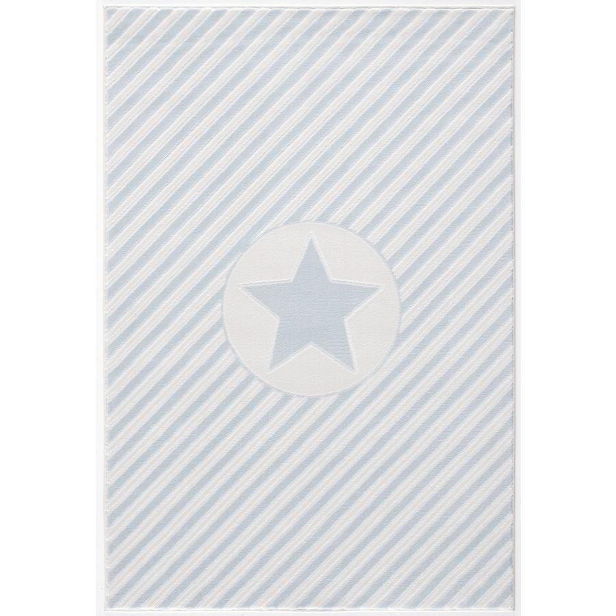 Tapis Happy Rugs Decostar bleu/blanc, 160 x 230 cm