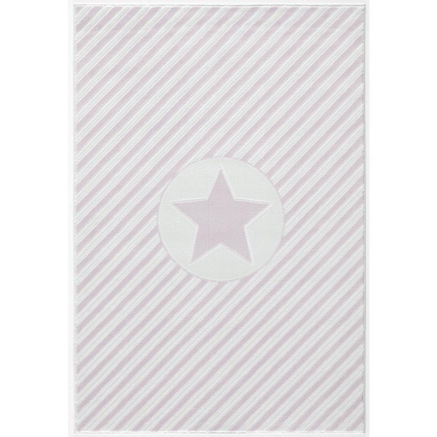 LIVONE play a dětský koberec Happy Rugs Decostar růžová / bílá, 120 x 180 cm