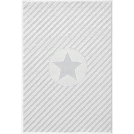 Tapis Happy Rugs Decostar gris argenté/blanc, 160 x 230 cm