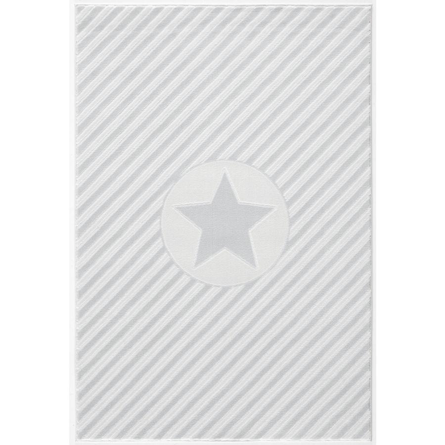 LIVONE Dywan dziecięcy Happy Rugs Decostar 160 x 230 cm, srebrnoszary/biały
