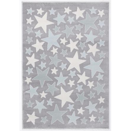 LIVONE Barnmatta Happy Rugs Stella silvergrå/blå, 160 x 230 cm