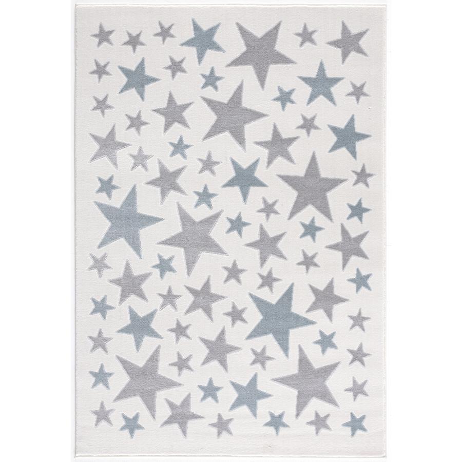 LIVONE Barnmatta Happy Rugs Stella creme/silvergrå/blå, 120 x 180 cm