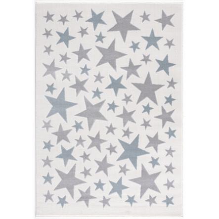 LIVONE lek og barneteppe Happy Rugs Stella krem ??/ sølvgrå / blå, 160 x 230 cm
