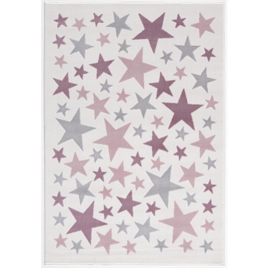 LIVONE alfombra para niños y juegos Happy Rugs Stella crema/gris plateado/rosa, 120 x 180 cm
