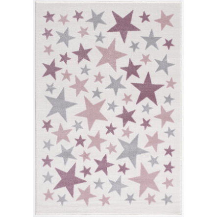 LIVONE Tapijt Happy Rugs Stella creme/zilvergrijs/roze 160 x 230 cm