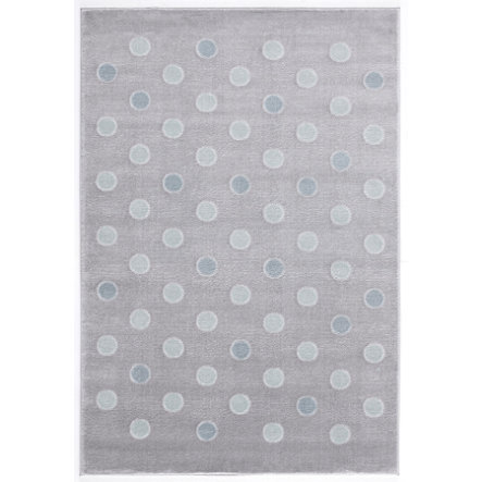 LIVONE Tappeto da gioco per bimbi Happy Rugs Confetti grigio argento/menta, 120 x 180 cm