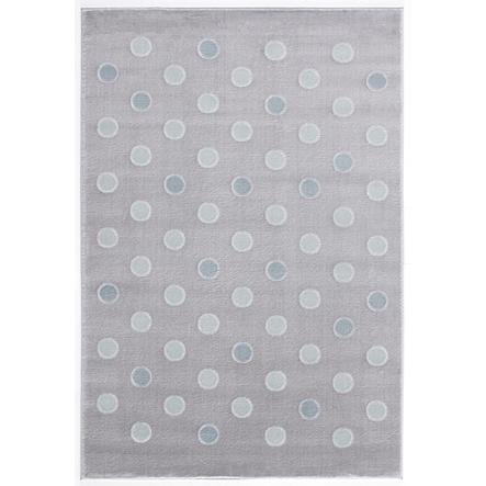 LIVONE Dywan dziecięcy Happy Rugs Confetti 160 x 230 cm, kolor srebrnoszary/miętowy