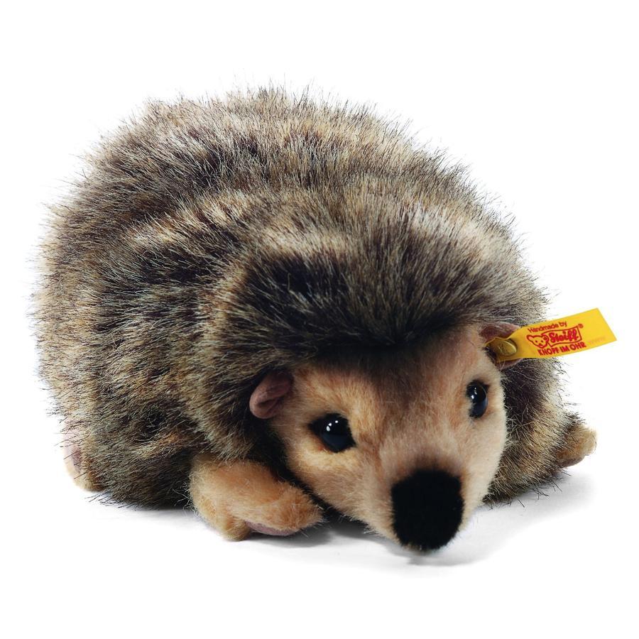 STEIFF Joggi Hedgehog, standing, brown, 16 cm