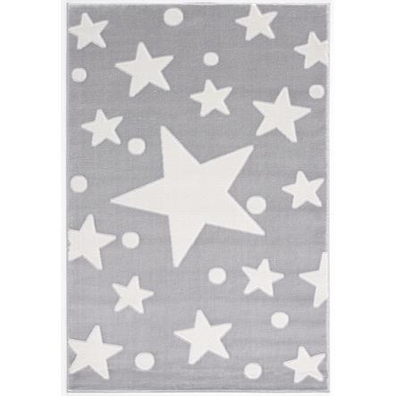 LIVONE Spiel- und Kinderteppich Happy Rugs Estrella silbergrau/weiss 100 x 160 cm