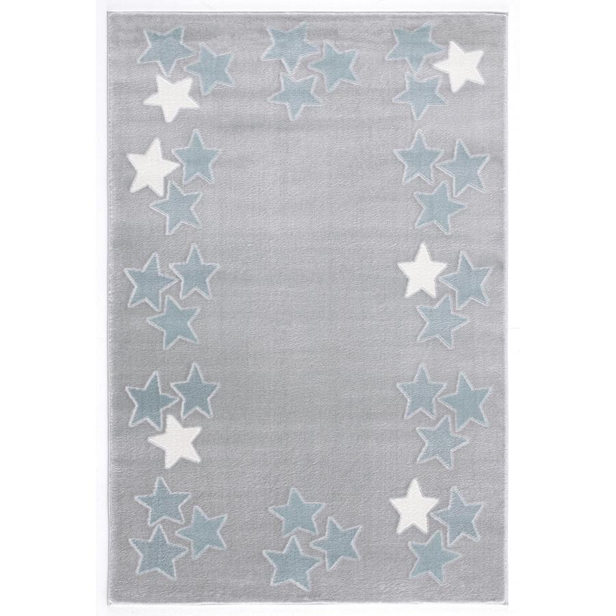 Tapis Happy Rugs Printemps gris argent/bleu 160 x 230 cm