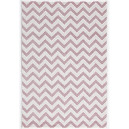 LIVONE play and children's tæppe Happy Rugs Zick pink / creme, 120 x 180 cm