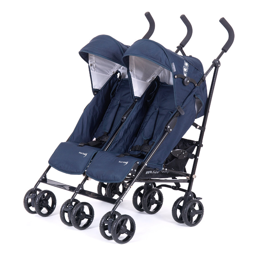 knorr-baby Poussette double canne Side by Side bleu
