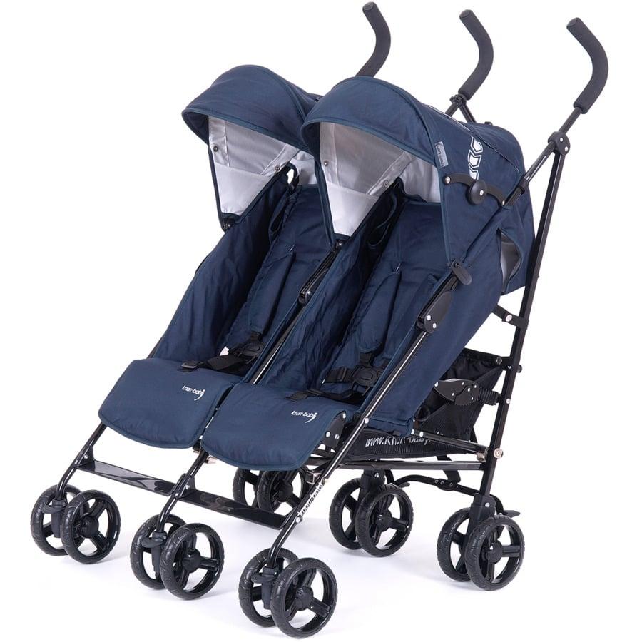 KNORR-baby sourozenecký kočárek Side by Side 2018 modrý