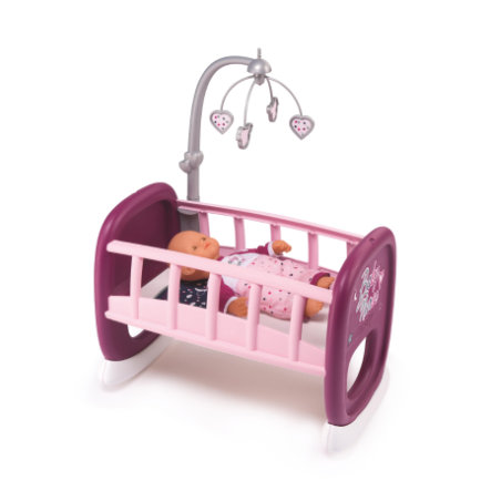 Smoby Baby Nurse - Puppenwiege mit Mobile