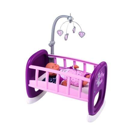 Smoby Bebé - Cuna de muñeca con móvil