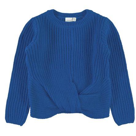 NAME IT tyttöjen Neulottu villapaita NMFNIJIA häikäisevän sininen