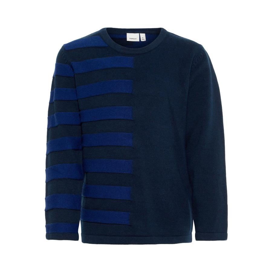 name it Boys Sweater NMMNUELON dark sapphire