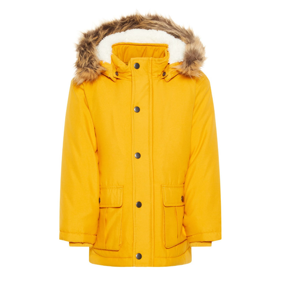 name it Boys Winterjacke NMFMOA Funktion golden orange